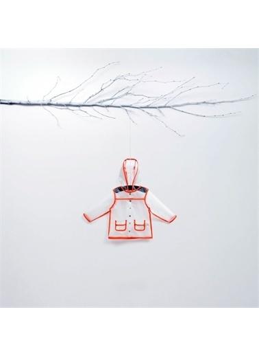 Zeo Wogi Turuncu Şeritli Kapüşonlu Yağmurluk-Turuncu Wogi Turuncu Şeritli Kapüşonlu Yağmurluk-Turuncu Renkli